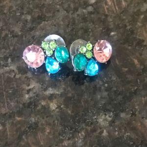 Betsey Johnson Women's Multi Colored Stone Earring